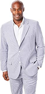 Kingsize Signature Collection Men's Big & Tall Linen Blend Two-Button Suit Jacket