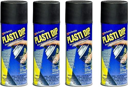4 PACK PLASTI DIP Mulit-Purpose Rubber Coating Spray BLACK 11oz Aerosol