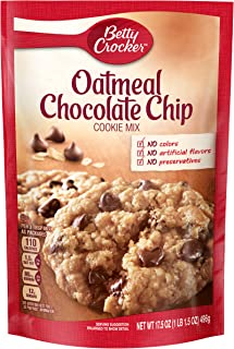 Betty Crocker Baking Mix, Oatmeal Chocolate Chip Cookie Mix, 17.5 Oz Pouch