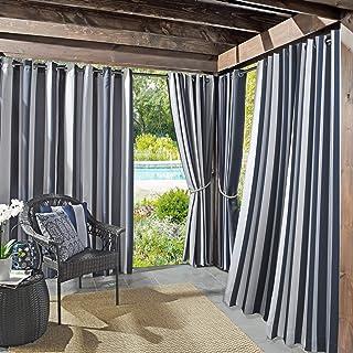 "Sun Zero 53086  Valencia UV Protectant Indoor Outdoor Curtain Panel, 54"" x 84"", Navy Blue"