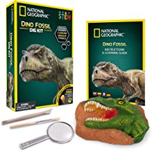 NATIONAL GEOGRAPHIC Dino Fossil Dig Kit – Excavate 3 real fossils including Dinosaur Bones & Mosasaur Teeth - Great Jurass...