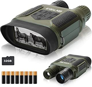Image of ESSLNB Night Vision Binoculars 400m/1300ft for 100% Full Darkness 7x31mm Night Vision Goggles with 32G TF Card and Photos Videos Recorder Function 2' LCD Infrared Binoculars with Night Vision