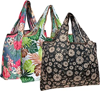 Wrapables Reusable Shopping Bags Large Blossoms & Ferns