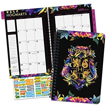 Harry Potter Calendar 2021 Bundle - Deluxe 2021 Harry Potter Weekly/Monthly Planner - 5 x 8 -Calendar with Over 100 Calendar Stickers (Harry Potter Gifts, Office Supplies)