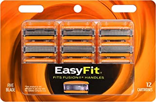 Personna EasyFit 5 Fusion 5 Razor Handle Compatible Refill Cartridges – 12 Count Personna EasyFit Fusion5 Razor Blade Refills - Compatible with all Fusion 5 Handles