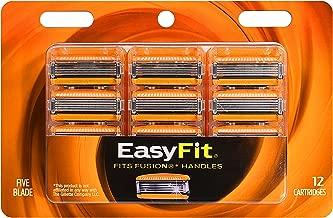 Personna EasyFit 5 Fusion 5 Razor Handle Compatible Refill Cartridges – 12 Count Personna EasyFit Fusion5 Razor Blade Refills - Compatible with all Fusion 5 Handles