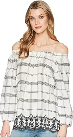 Cotton Off-the-Shoulder Shirt