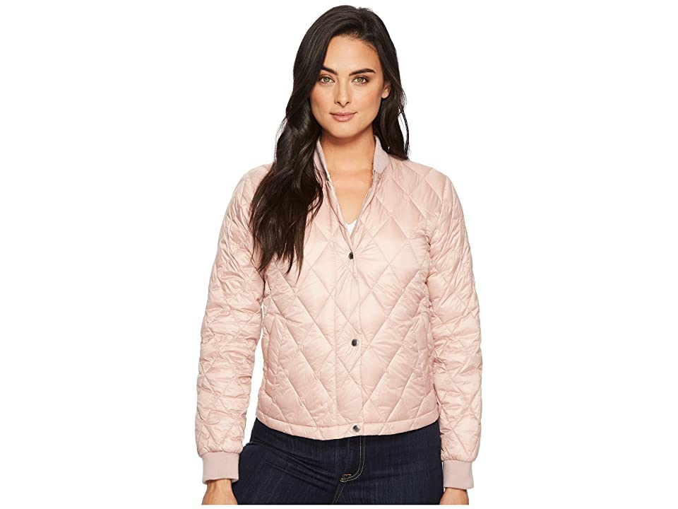 Cole Haan Diamond Quilted Shorter Bomber (Canyon Rose) Women
