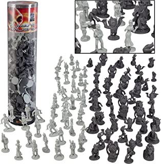 Humans Vs Aliens Space Monster Action Figure Toy Playset - Giant 90 pc Set w 16 Unique Futuristic Sculpts - Great for Part...