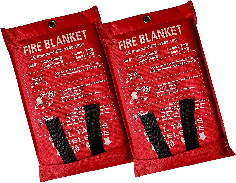 Victosoaring 2PACK quality assurance Emergency Survival SALENEW very popular Fiberglass Sh Blanket Fire