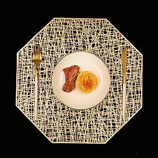 Homcomodar podkładki na stół jadalny zestaw 6 mat ośmiok