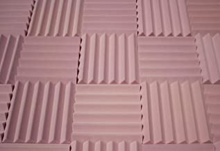 "Soundproofing Acoustic Studio Foam - Rosy Beige Color - Wedge Style Panels 12""x12""x2"" Tiles - 4 Pack"