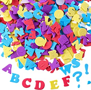 Aneco 624 Pieces Adhesive Foam Letters Self-Adhesive Letter Stickers Alphabet Stickers A to Z Colorful Letter Stickers (Random Colors)
