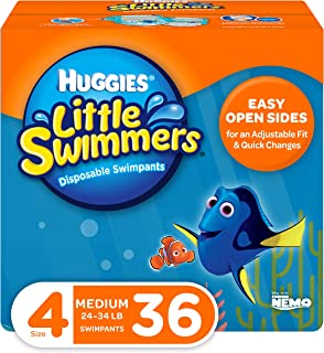 Huggies Little Swimmers Swim Diapers, Size 4 Medium, 36 Count