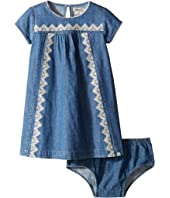 Lucky Brand Kids - Chambray Embroidered Cap Sleeve Dress (Toddler)