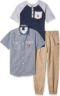 U.S. Polo Assn. Boys' Short Sleeve, T-Shirt and Pant Set