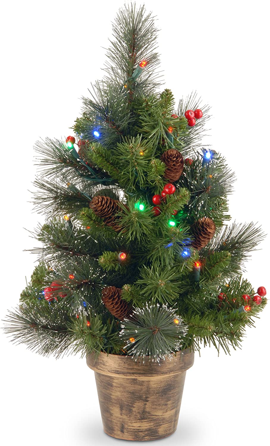 Product Tree Company Pre-Lit Artificial Mail order cheap Christmas Mi with Trimmed