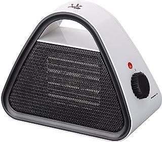 Jata TC85 Calefactor cerámico PTC, silencioso, 1500 W, 0 Decibeles, Blanco con forntal y mandos negro