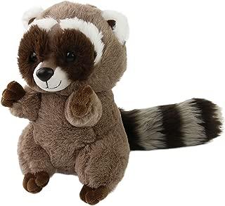 Houwsbaby Realistic Stuffed Raccoon Plush Toy Gift for Kids Christmas, 10inch (Raccoon)