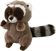 Houwsbaby Realistic Stuffed Raccoon Plush Toy Gift for Kids Halloween Christmas, 10inch (Raccoon)