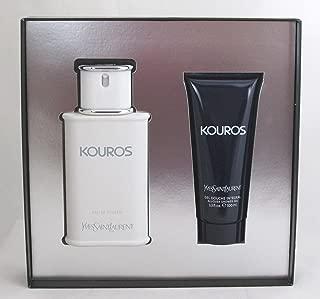 Kouros by Yves Saint Laurent for Men Gift Set- Eau De Toilette 3.3 oz + Body Wash 3.3 oz