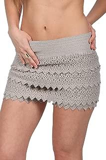 M&B USA Casual Shorts Cotton Crochet Lace Shorts Beach Summer Miniskirts