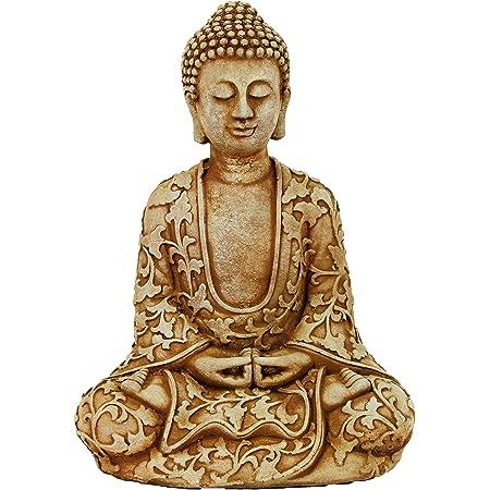 Amazon Com Lotus Buddha Home And Garden Statues Meditating Sitting Buddhas Home Kitchen
