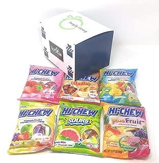 Hi Chew Candy 6 Flavor Variety Pack Bundle (Tropical Mix, Sours, Fizzies, Fruits Plus, Strawberry, Original Mix)