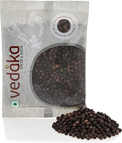 Amazon Brand Vedaka Black Peppercorn Kali Mirch 100g