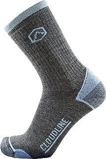 Merino Wool Crew Hiking & Trekking Socks - Medium Cushion - for Men & Women