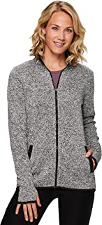 Active Women's Fashion Athletic Lightweight Fleece Zip Up Sweatshirt Jacket with Pockets