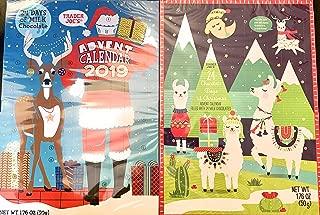 Trader Joe's 2019 Milk Chocolate Christmas Advent Calendar (Pack of 2 Assorted Designs)