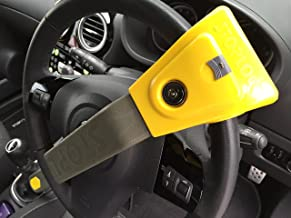 T-Bar Steering Wheel Immobiliser MUQU/® Steering Wheel Lock Universal Wheel Lock for Cars Security Protection Safety Tool Anti Theft Yellow