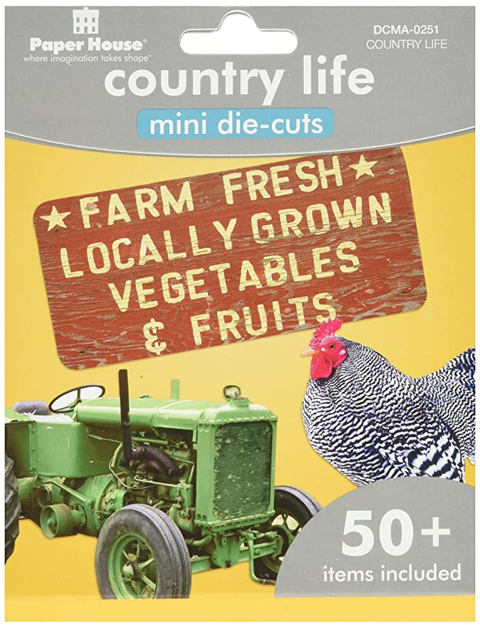 Paper House Productions DCMA-0251E  Mini Die Cut Assortments, Country Life (3-Pack)