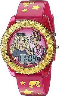 ساعة كوارتز للبنات من باربي، زهري، 17.6 موديل BAB4001