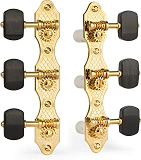 Golden Age Classical Guitar Tuners, Gold with Ebony Knobs