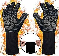 BBQ Gloves (Large (36cm), Black)