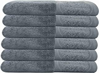 DerF HOME Hand Towels Large - 700 GSM Premium Original Turkish Cotton, Hotel Quality for Maximum Softness & Absorbency for...