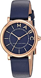 Marc Jacobs Womens Quartz Watch, Analog Display and Leather Strap MJ1539