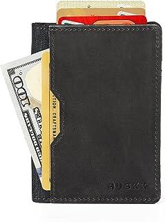 Slim Card Holder Front Pocket Wallet - Vegetable Tanned -