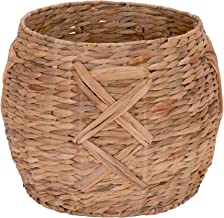Household Essentials ML-4112 Hyacinth Round Floor Basket, X-Design