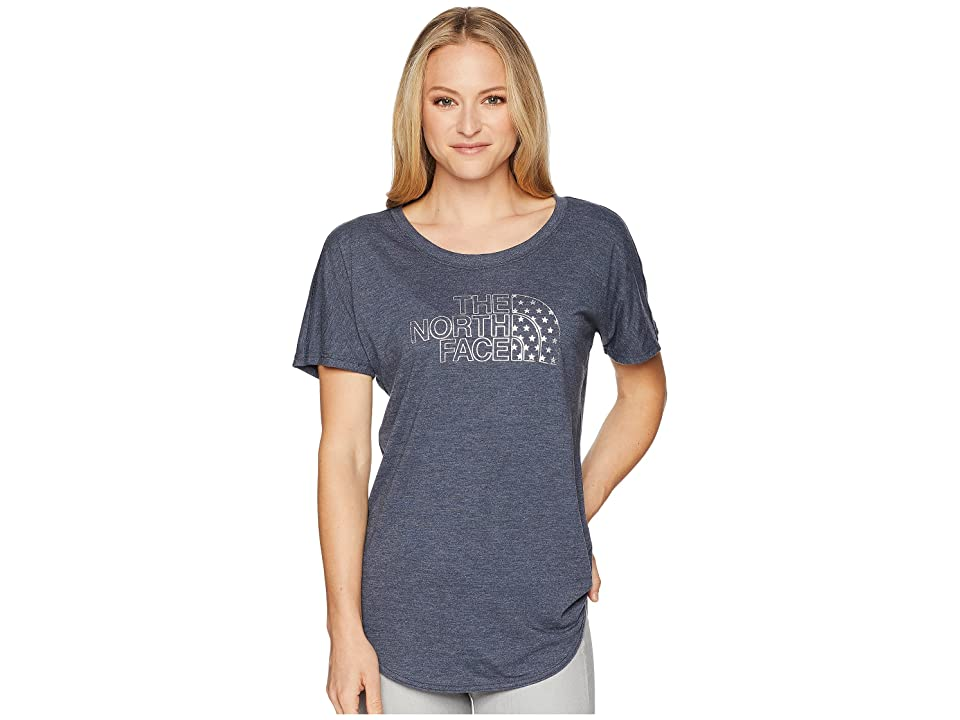 The North Face Americana Track Tee (Urban Navy Heather) Women
