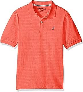 Nautica Boys' Short Sleeve Tonal Stripe Deck Polo Shirt