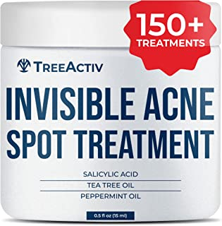TreeActiv Invisible Acne Spot Treatment | All Natural | Goes On Clear | Works Under Makeup | Quickly Reduces Blemishes | S...