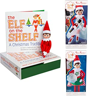 Elf on The Shelf Girl Dress Up Set: Girl Scout Elf, Sugar Plum Duo, and Super Hero Value Pack