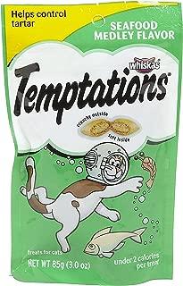 Whiskas Temptations Cat Treats, Seafood Medley, 3 oz (Pack of 3)