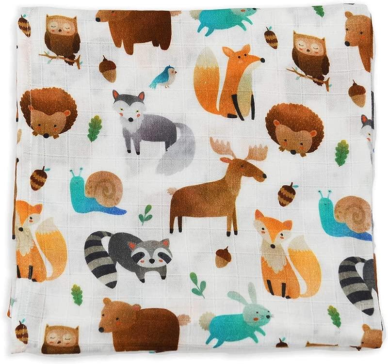 Earthy Organic Muslin Baby Toddler Blanket Swaddle 100 Organic Cotton Wren 1 Layer 48 X 48