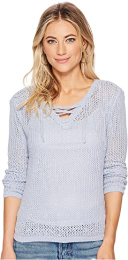 Lily Lace-Up Sweater