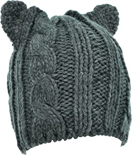 Hand By Hand Aprileo Beanie Knitted Hat Beanie Cable Bear Ear Winter Soft Cap