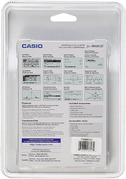 Casio fx-9860GII Graphing Calculator, Black